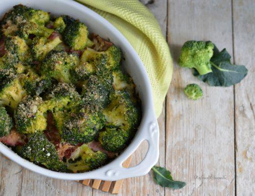 Tortino di broccoli con salumi e formaggi