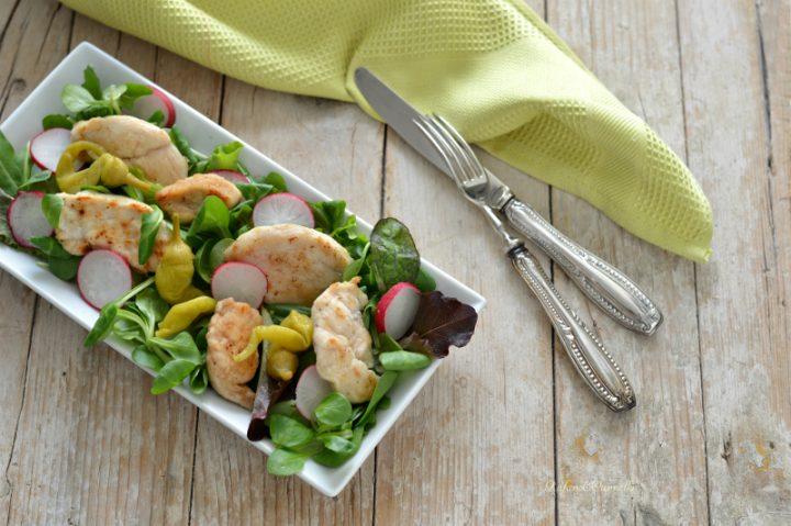 insalata di pollo e peperoncini