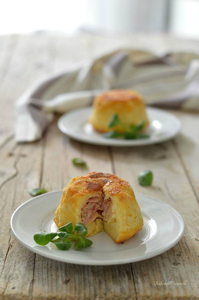 tortine di patate con prosciutto e formaggio