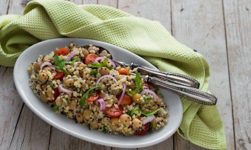 Bulgur con quinoa e ceci