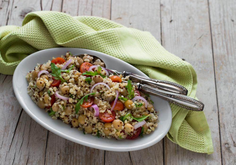 Ricetta Quinoa E Bulgur.Bulgur Con Quinoa E Ceci Rafano E Cannella