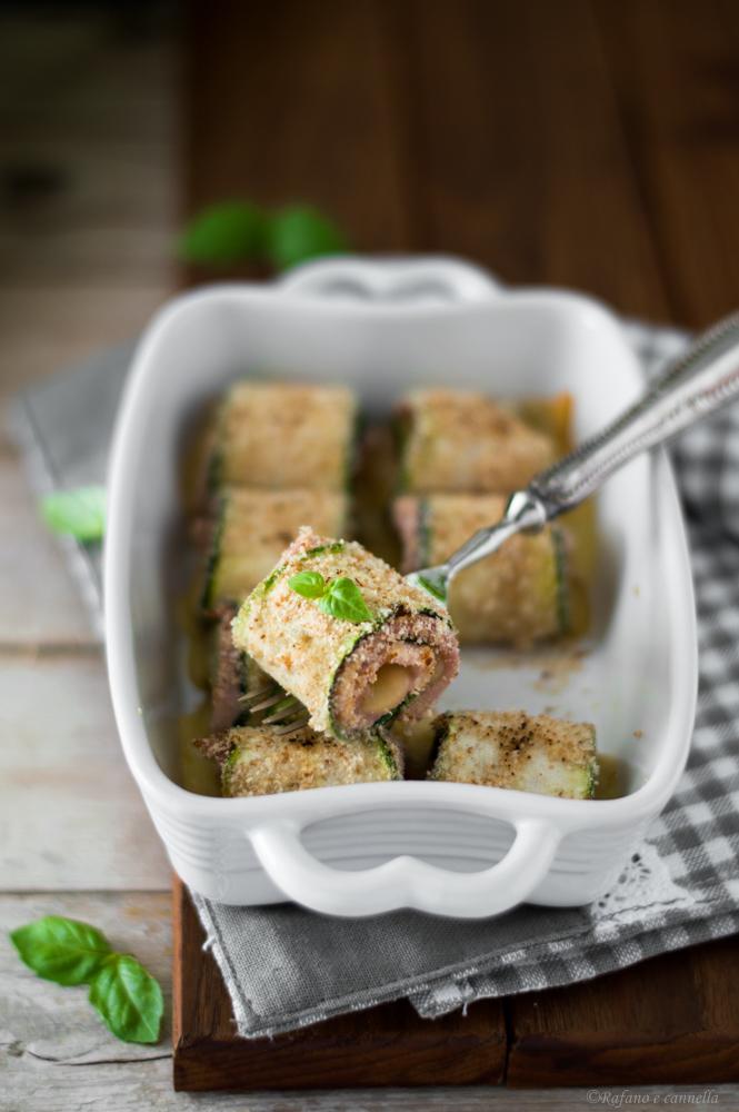 involtini di zucchine con prosciutto e formaggio