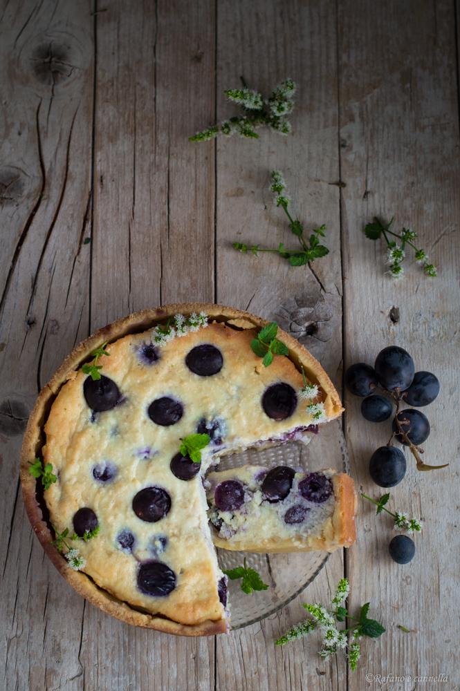 crostata di ricotta e uva