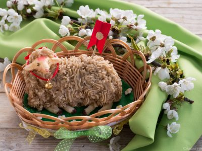agnello di pasta reale