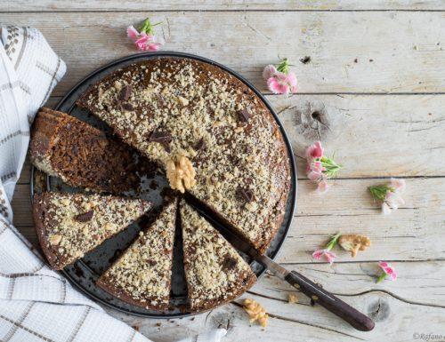 Torta vegan al cioccolato e noci