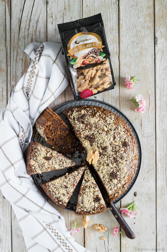 torta vegan cioccolato e noci