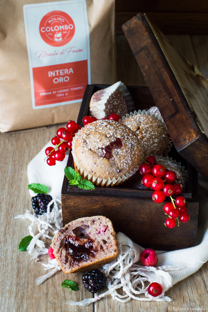 Muffins ai frutti di bosco
