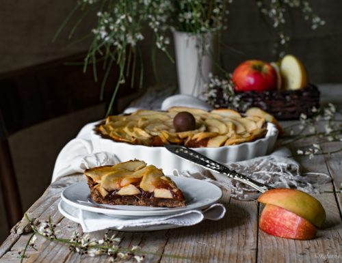 Crostata al cioccolato e mele