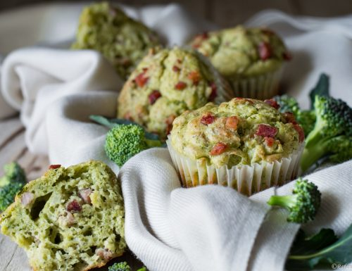 Muffins salati broccoli e robiola