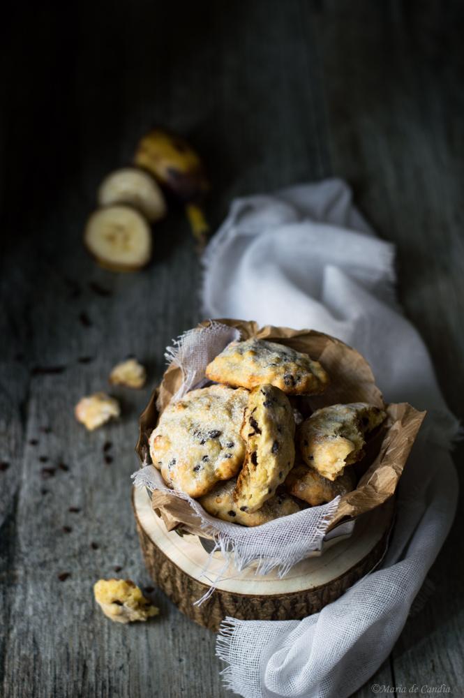 Bananotti - biscotti banana e cioccolato