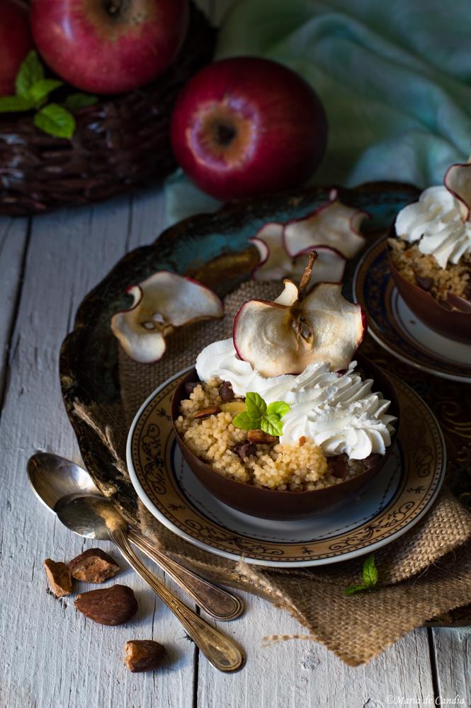 coppette di cous cous dolce alle mele