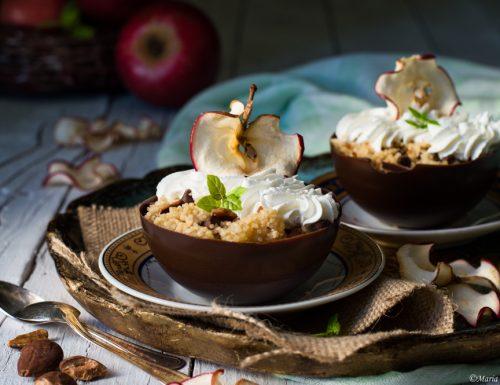 Coppette con cous cous dolce alle mele