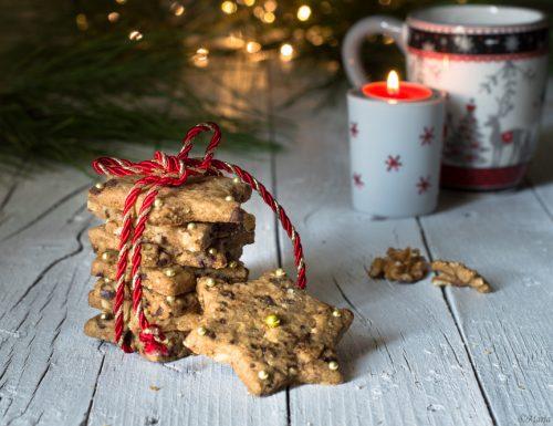 Biscotti natalizi noci e zenzero