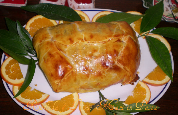 Maiale in crosta con salsa all'arancia,ricetta raffinata
