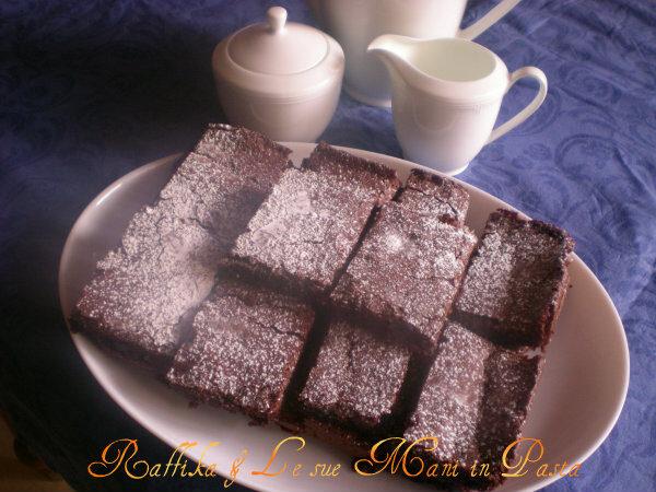Brownies cioccolato e arancia,ricetta cioccolatosa