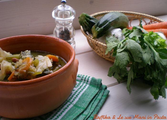 Minestrone di verdure,ricetta vegetariana