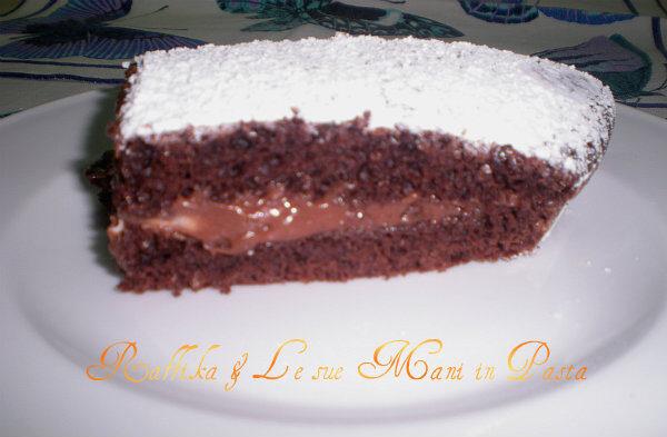 Torta golosa al cioccolato,ricetta senza uova e senza burro