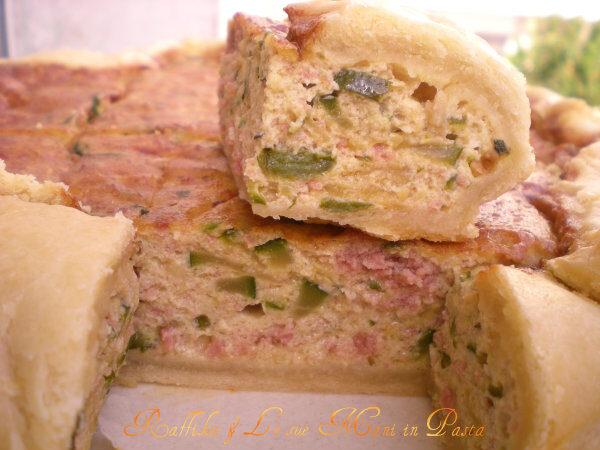 Quiche zucchine e mortadella, ricetta delicata