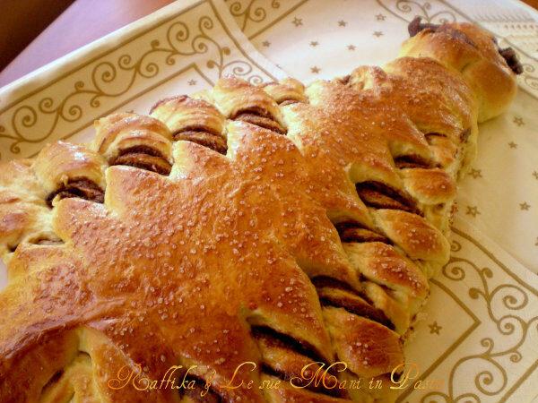 Abete di pan brioche alla nutella