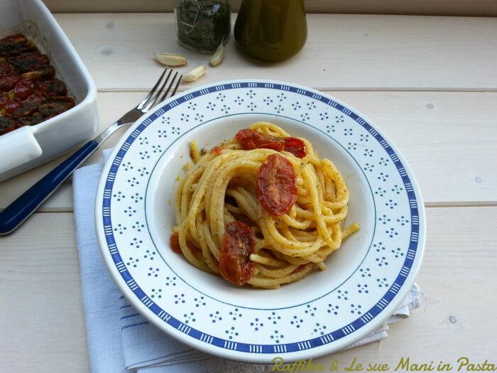 Spaghettoni con pomodorini confit