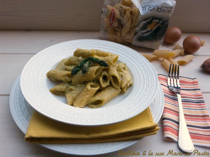 Pasta alla carbonara di asparagi (con pacco) (nuova)