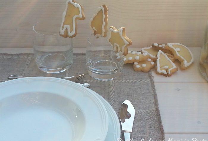 Biscotti di frolla segnaposto