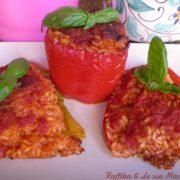 Peperoni ripieni di riso,ricetta al forno