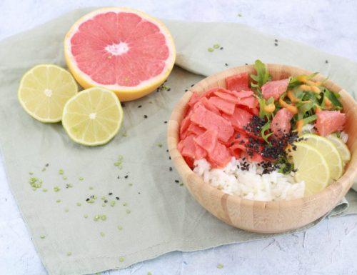Pokè bowl con salmone