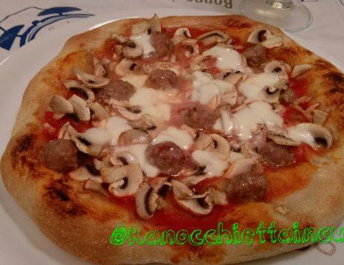 Pizza tonda con lievito madre secco in polvere