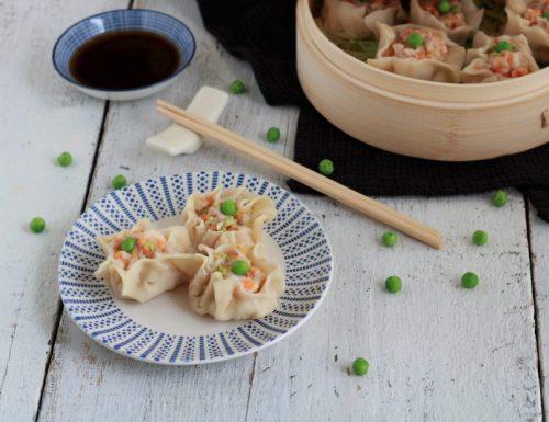 Ravioli cinesi al vapore con gamberi (Xiao mai)