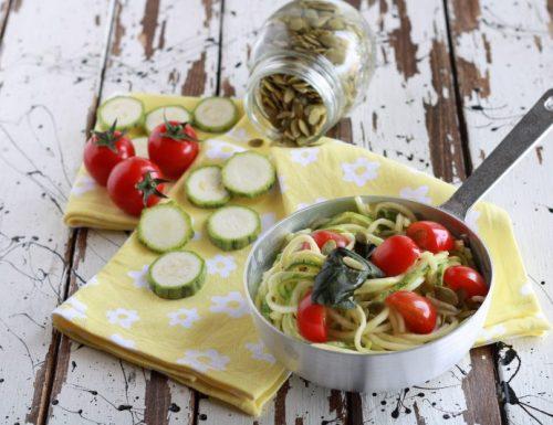 Spaghetti di zucchine alla crudaiola
