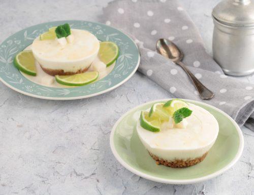 Mini cheesecake al cocco e lime