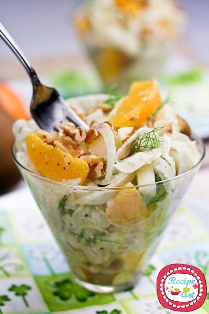 insalata arance finocchie noci