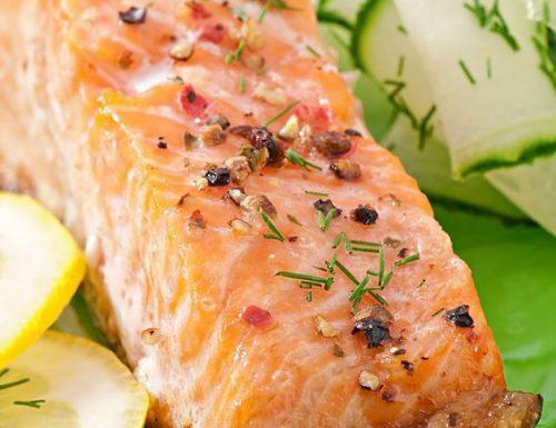 Salmone glassato al forno