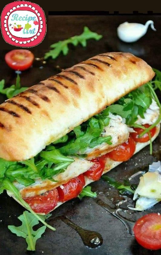panino burger al pollo grigliato by recipeart
