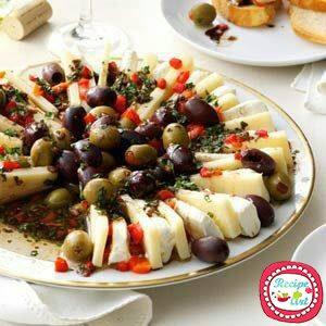 Tagliata di provolone e olive