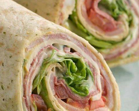 Rotolo di piadina sandwich