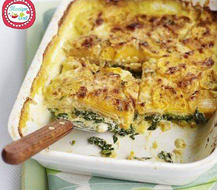 Sformato alle patate e spinaci