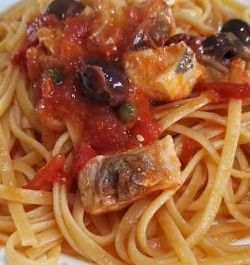 Spaghetti al ragù di spada