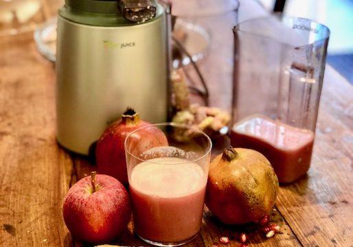 Estratto di melagrana, zenzero e mela
