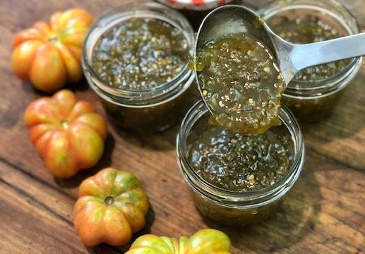 Confettura di pomodori verdi e zenzero