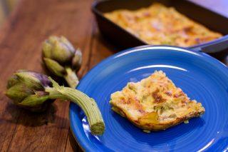 Lasagne ai carciofi e crema di stracchino 1