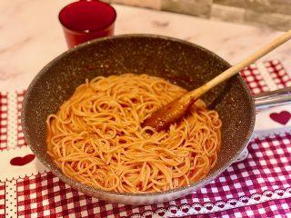 Spaghetti al pomodoro risottati