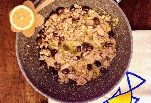Sugo di tonno, olive, zenzero e limone