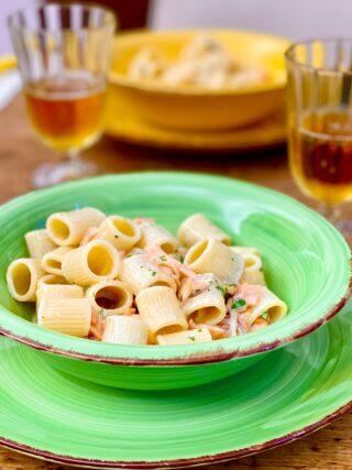 Pasta al salmone affumicato… ricetta vintage