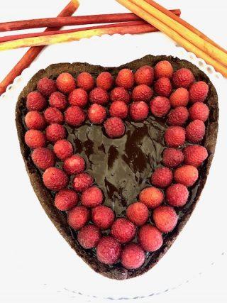 Crostata al cioccolato con lamponi