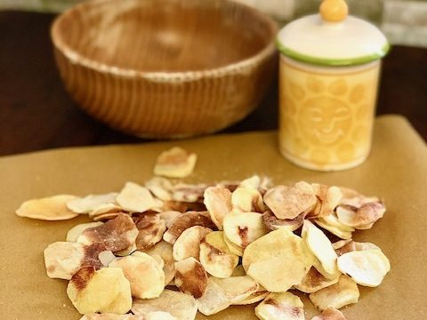 Patatine chips con funzione crisp del microonde