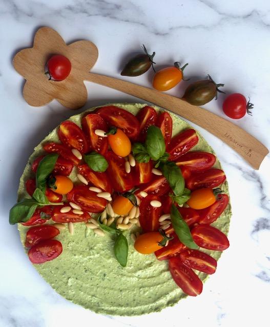 Cheese cake salata al pesto