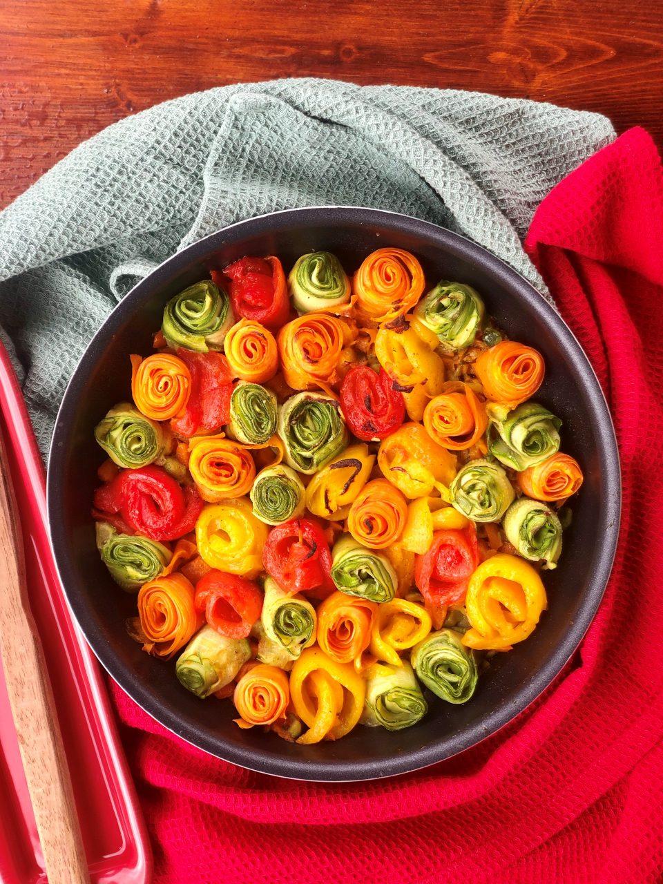 Boccioli colorati di verdure