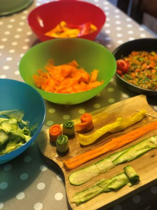 boccioli di verdure